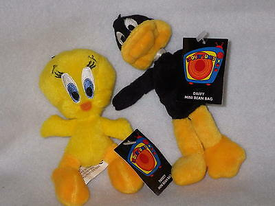 Daffy Duck Tweety mini bean bag set 2 Looney Tunes Warner Stores new with tags