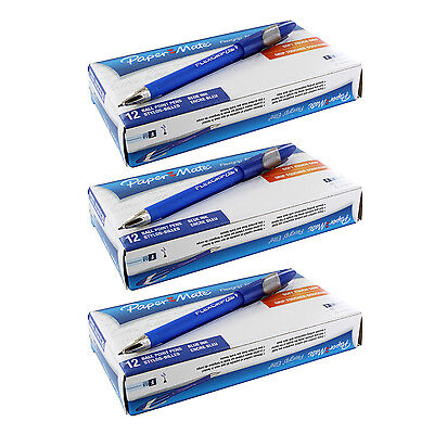 Paper Mate FlexGrip Elite Stick Ball Point Pens, Blue Ink, Fine, Pack of 36