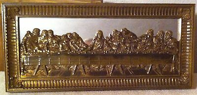 Home Interiors Picture Lords Last Supper Mirrored 22 x 10 Jesus Disciples VGC
