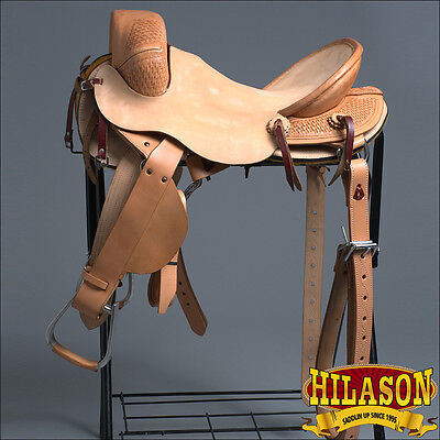 Cbx201Bz Hilason Classic Series Hand-Made Rodeo Bronc Riding Saddle 16""