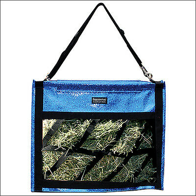 21X21X11 Professional Choice Horse Tack Equisential Hay Bag Glitter Cobalt