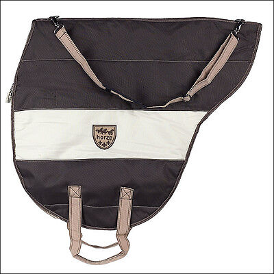 Horze Large Saddle Carrier Cover Bag Chocolate Brown Polyester