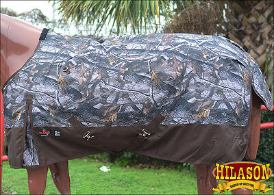 "72"" Hilason 1200D Poly Ripstop Waterproof Horse Cold Winter Blanket Camo Prints"