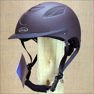 Small Partrade Brown Ultra Low Profile Contender Riding Helmet