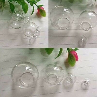 2pcs Clear Glass Dome Ball Cabochons Pendants Jewelry Crafts Accessories 10-30mm