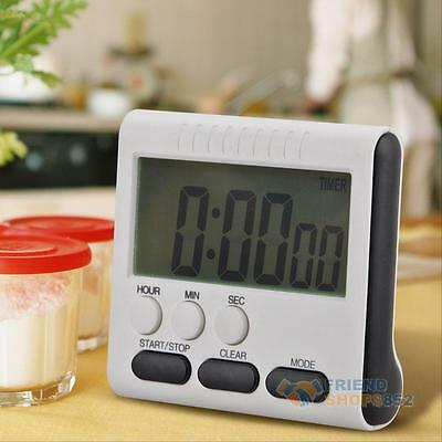 Magnetic Large LCD Digital Kitchen Cooking Timer Count Up Down Clock Loud Alarm
