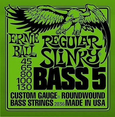 Ernie Ball 2836 Regular Slinky BASS 5 45-130 Electric Guitar Strings Free Ship!