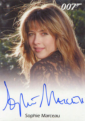 James Bond 007 Classics Autograph Card Sophie Marceau as Elektra King