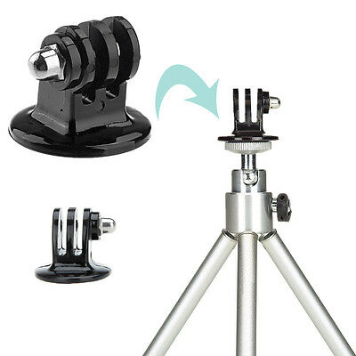 Tripod Monopod Mount Adapter For GoPro HD HERO 1 2 3 4 Camera Accessories IL