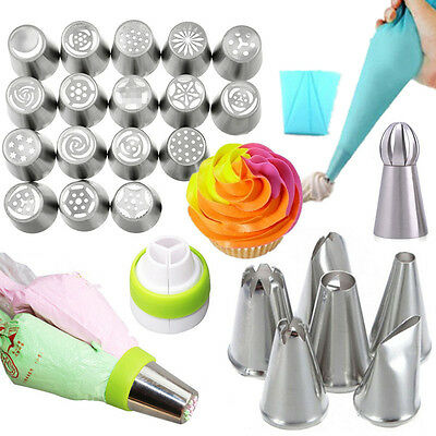 Cake Decorating Tip Sugarcraft Russian Icing Piping Nozzles Converter Pastry Bag