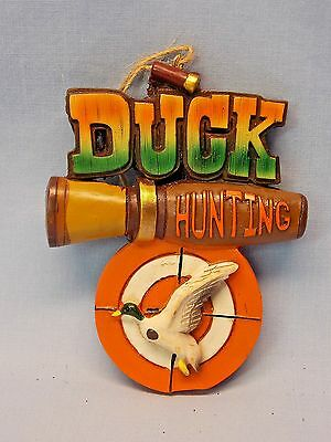 Duck Hunting Call,Shell,Target,Duck Christmas Tree Ornament 3 1/2In New Resin