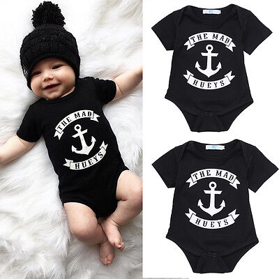 One Piece Toddler Baby Boy Kids Clothes Romper Jumpsuit Outfits Sets Anchor New