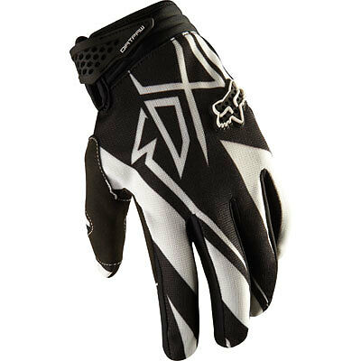 Fox Racing Dirt Paw Black Gloves  Mx Bmx Mountain Bike  Off Road Large
