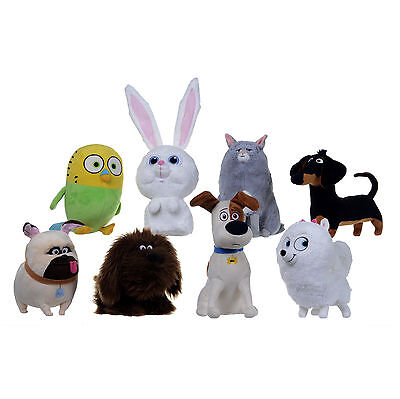 "New Official 10"" Secret Life Of Pets Plush Soft Toys & 4"" Bag Clips Mel Max Duke"