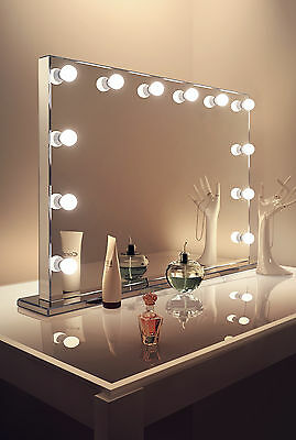 Diamond X Mirror Finish Hollywood Makeup Mirror Daylight Dimmable LED k253CW