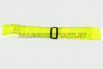 US ARMY USMC USAF PT Athletic HI-VIZ YELLOW VINYL REFLECTIVE SAFETY BELT VGC