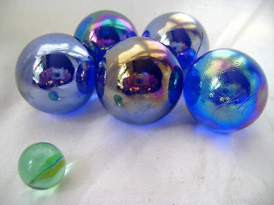 NEW 5 FUNFAIR MARBLE TRADITIONAL GAME COLLECTOR ITEM 22mm HOM
