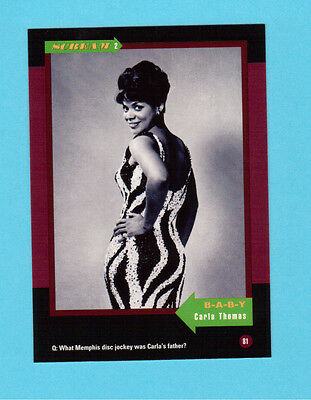 Carla Thomas  Soul Music Collector Card  Have a Look!