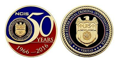 "Ncis Naval Criminal Investigative Service Navy 50 Years 2""  Challenge Coin"