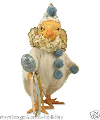 TG2329 Bethany Lowe Fancy Chick Spring Easter Decoration Figurine Clown Egg