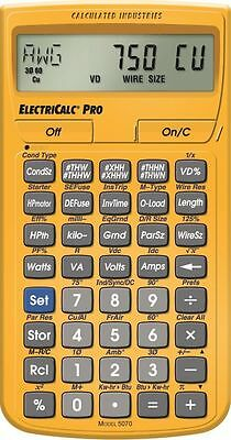 Calculated Indrstries ElectriCalc Pro Model 5070  Electrical Code Calculator