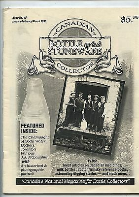 1996 Issue No.15 Canadian Bottle & Stoneware Collector Magazine