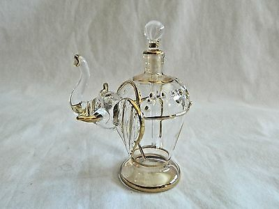 Beautiful Hand Blown Egyptian Glass Elephant Perfume Bottle WOW!