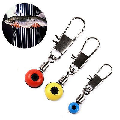 100pcs Fishing Barrel Swivel Solid Ring Interlock Snap Pin Connector Accessories