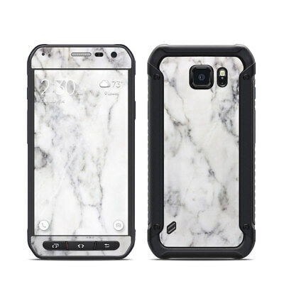 Galaxy S6 Active Skin - White Marble - Sticker Decal