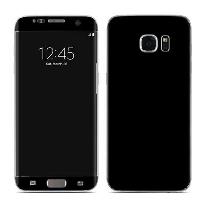 Galaxy S7 Edge Skin - Solid Black - Sticker Decal