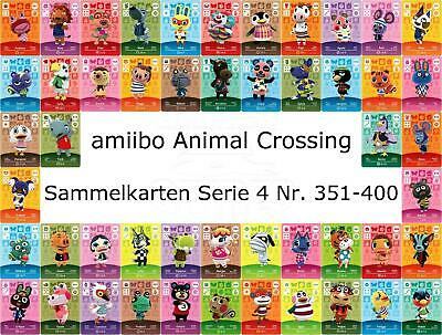 amiibo Animal Crossing Karte Nr. 351 - 400 Serie 4 Happy Home Designer, NEU