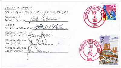 Space Shuttle Endeavour - Sts - 88 Crew - Envelope Signed With Co-Signers