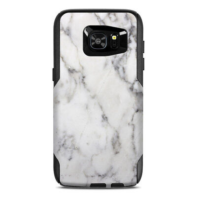 Skin for Otterbox Commuter Galaxy S7 Edge - White Marble - Sticker