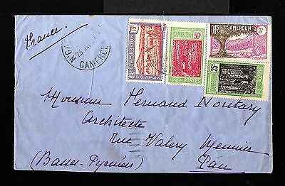 10675-CAMEROON-OLD COVER YAOUNDE to PAU (france).1930.WWII.French colonies.