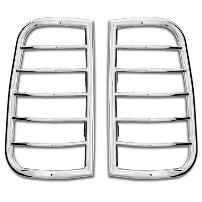 Westin New Tail Light Guards Lamps Set of 2 Chrome Chevy Suburban C1500 Pair