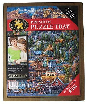 "DOWDLE FOLK ART PREMIUM PUZZLE TRAY 18"" x 24"" FITS UP TO 500 PCS #61998"