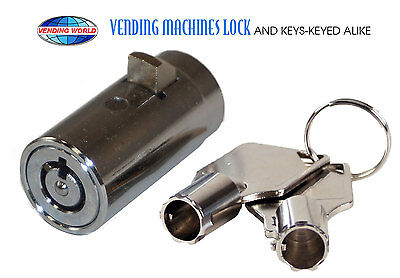 Universal Replacement Plug Lock for Soda / Snack Vending Machine NEW with Keys