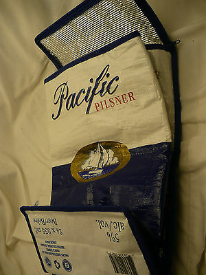 PACIFIC pilsner beer soft sided cooler knapsack pack hold 24 NEW
