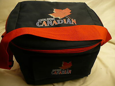 Molson Canadian soft sided beer insulated cooler BLACK large shoulder bag