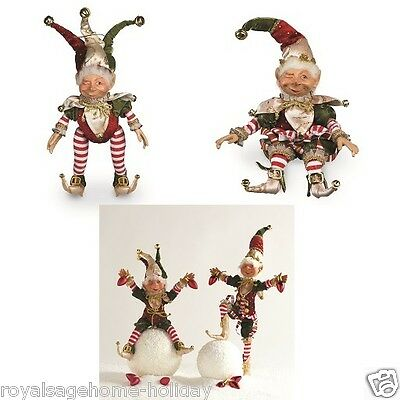 HTF Mischievous Jester Elf Christmas Figure Doll on the Shelf Pixie Santa Helper
