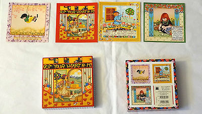 Vintage Mary Engelbreit Greeting Cards With Original Keepsake Box !
