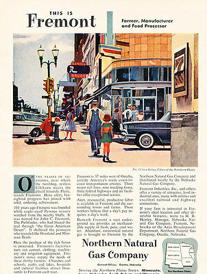 1957 Fremont Nebraska Northern Gas Co. Vintage Advertisement Print Ad J475