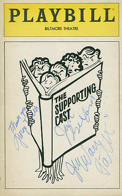 The Supporting Cast Play Cast - Show Bill Cover Signed With Co-Signers