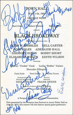 Black Broadway Play Cast - Show Bill Signed With Co-Signers