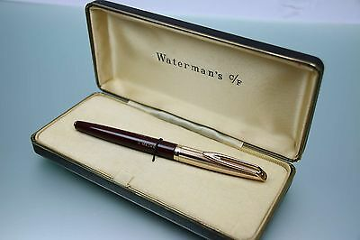 RAR Waterman CF1500M Füller Gold Feder 14 Karat in Box Bordeaux Rot