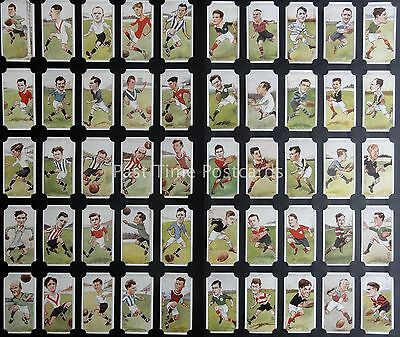 Full Set FOOTBALLERS CARICATURES by RIP - RERPO of John Players & Sons 1926