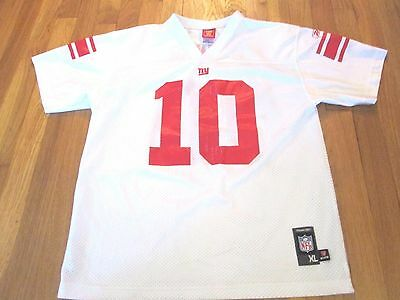 3e283ddd129 Lightly Worn Reebok Nfl New York Giants Eli Manning Jersey Youth Size Xl