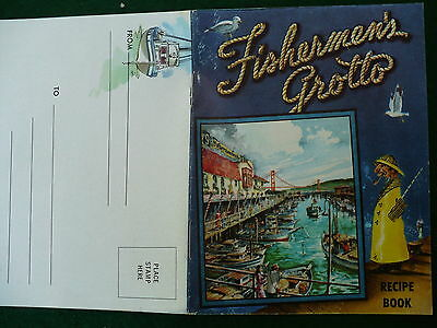 Fishermen's Grotto recipe booklet & mini post card map pictures 1960's #92
