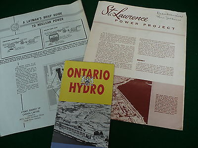 Ontario Hydro nuclear power St. Lawrence power project brochures pamphlets #110