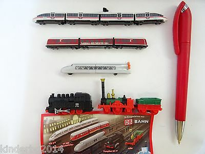 German Deutsche Bahn Collection Model Trains Set 2011 Kinder Surprise Miniatures